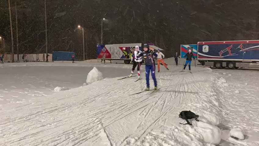 How many athletes can you spot in the warmup merrygoround  KON20 biathlon https://tco/Dh8tCZBWQ1