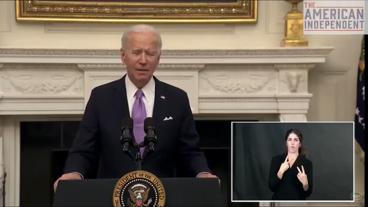 "President Biden says he is pursuing a wartime effort to produce equipment needed to combat COVID-19: ""400,000 Americans have died. That's more than died in all of World War II. 400,000. This is a wartime undertaking."" https://t.co/PC2Yzthw6X"