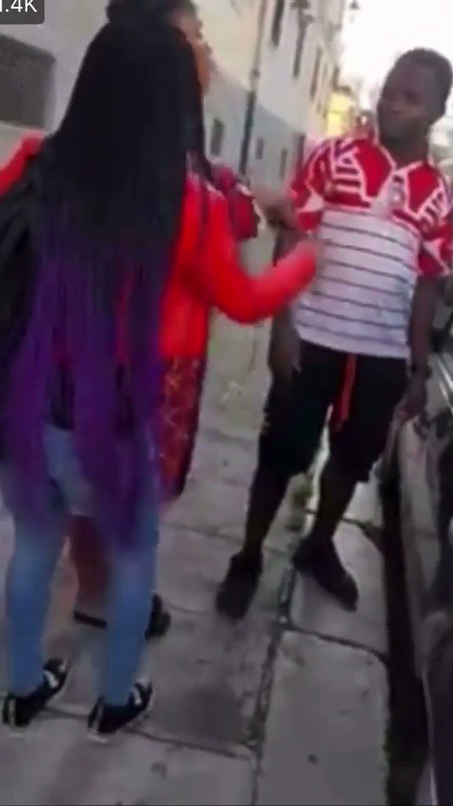 Pregnant woman disgraces man in public as they fight over pregnancy
