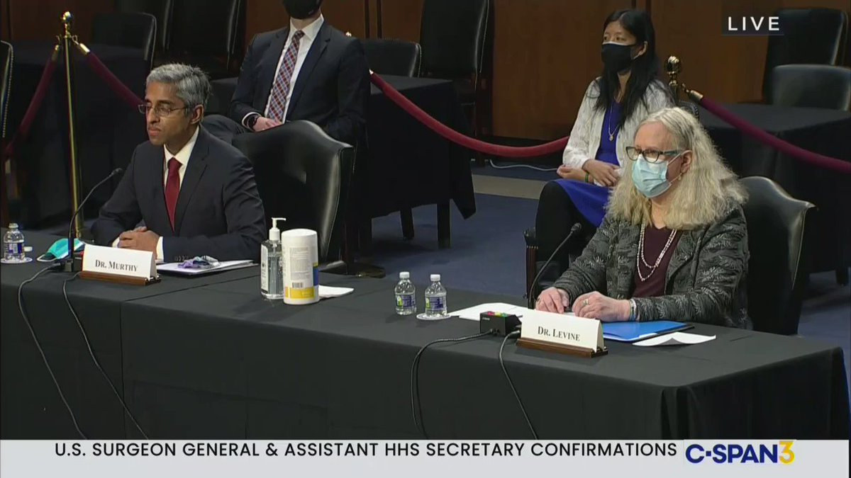 """Jesus Christ.  Here's Rand Paul likening transition surgery to """"genital mutilation"""" while questioning Dr. Rachel Levine, a trans woman, at her confirmation hearing."""