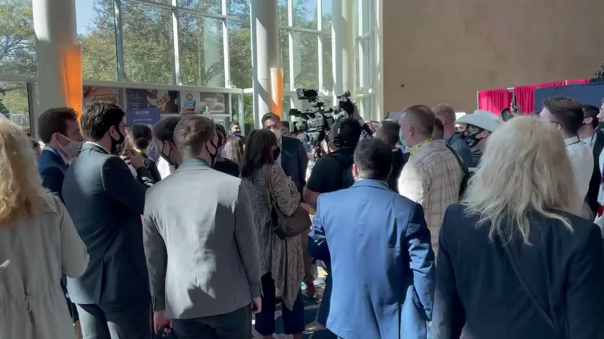 """CNN's Jim @Acosta surrounded by the crowd at #CPAC. """"Get him. Get him,"""" one woman says."""