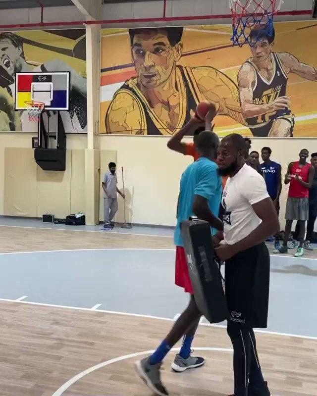 "Good luck trying to stop 7'9"" Nigerian prospect Abiodun Adegoke in the post 😳  (via BigNaija/IG)"