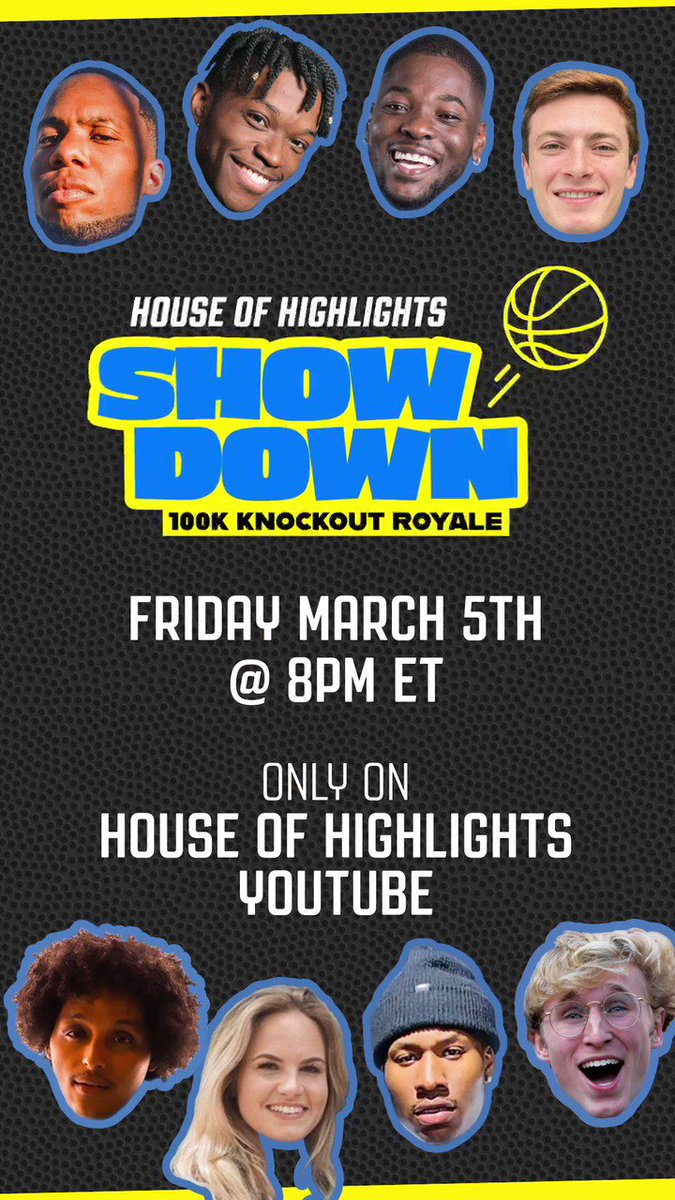 Who is winning this game of Knockout? 👀   $100k Knockout Royale field is set 🔥Watch the HoH Showdown live Friday, March 5th on House of Highlights YouTube @ 8pm
