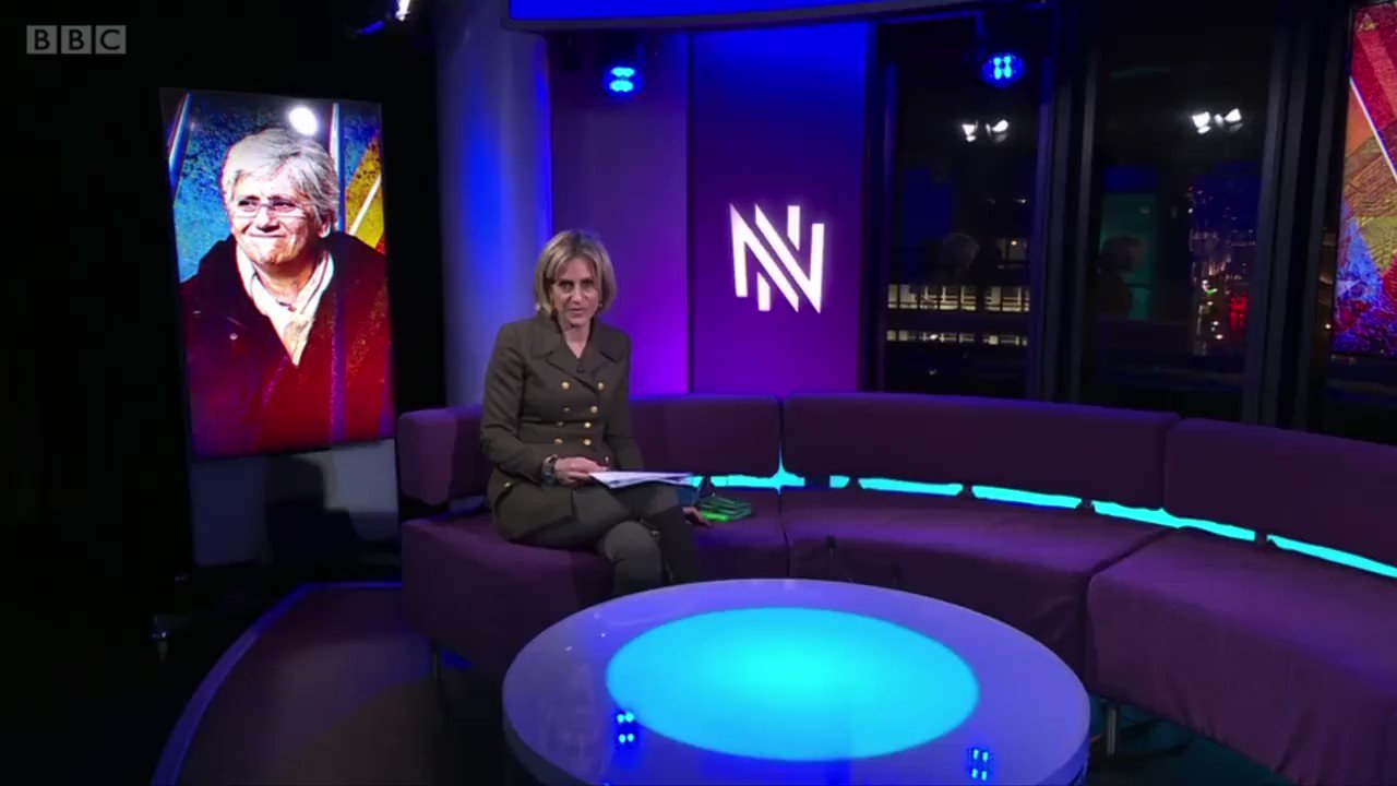"Yesterday at @BBCNewsnight with @maitlis: ""If there's a demand for my extradition I will appear in Court in a European country. I'm not going to voluntarily walk into Spain because I would be put straight to prison before a trial show"". https://t.co/r3bH5LjuiF"
