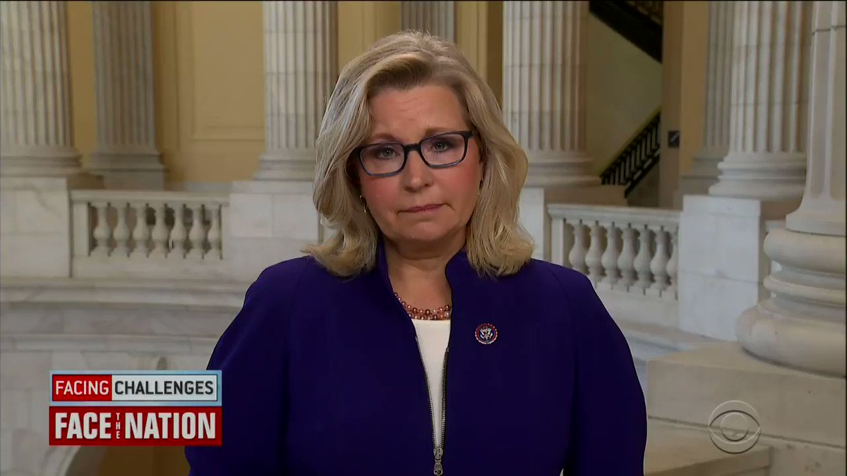 "Liz Cheney on Trump's continued embrace of insurrection: ""The former president is using the same language that he knows provoked violence on Jan. 6. As a party, we need to be focused on the future. We need to be focused on embracing the Constitution, not embracing insurrection."""