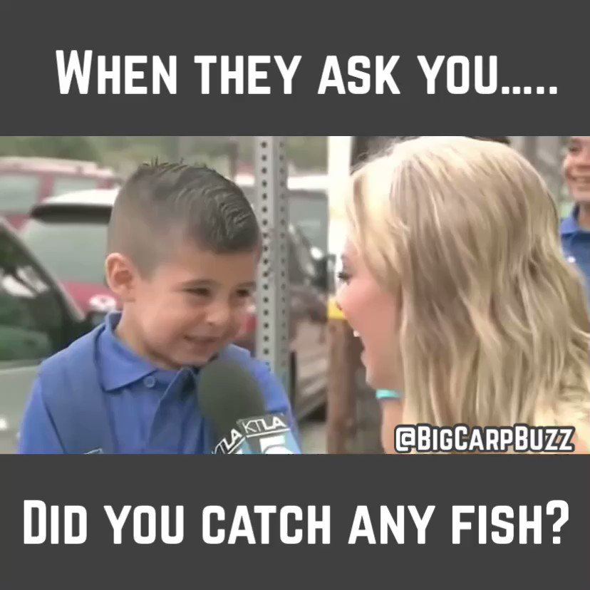 """When they ask you…… Did you catch any fish?"" @BigCarpBuzz #BigCarpBuzz #Fishing #Carp #Carp"