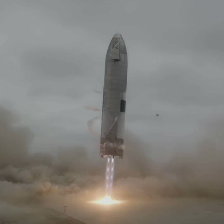 Beautiful footage from the first recovery of a SpaceX Starship prototype. SpaceX recently submitted an FCC application that outlined the first orbital test flight of the combined vehicle which is made up of the Super Heavy booster and the Starship upper stage. Credit: SpaceX https://t.co/NEgcOHBzjG