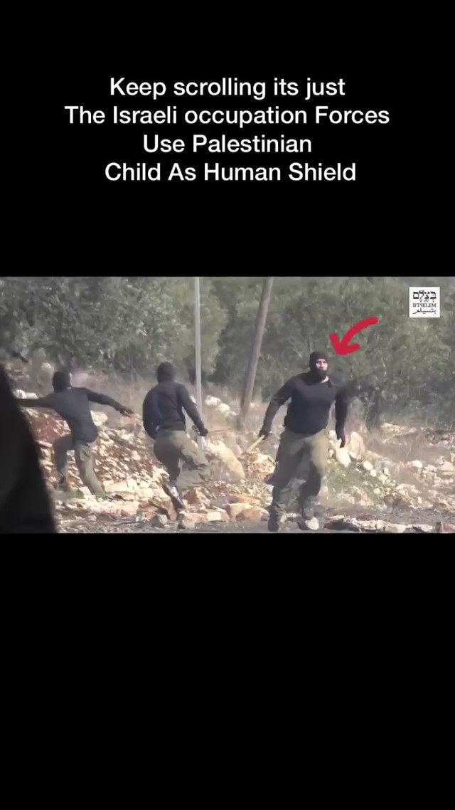 Watch Israeli forces use a Palestinian child as human shield! https://t.co/XFvr31lAlA
