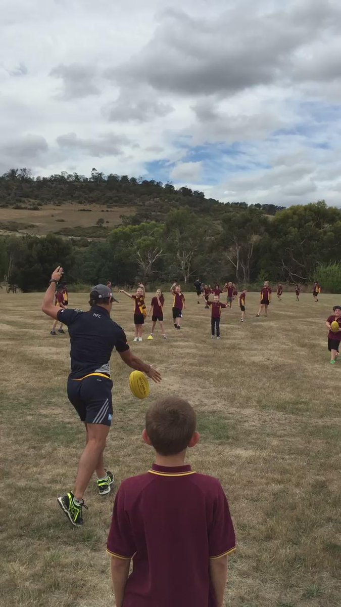 Check out @AlexWoodward39 nailing Liam Shiels today. Teaching the kids a lesson! #precision #nailedhim @HawthornFC http://t.co/2KyTLhD8Bp