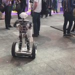 Who said balancing a robot is a challenge? Watch this robot an a Segway #4YFN #MWC15 http://t.co/9V77c9mxZV