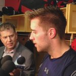 Rookie media scrum after todays morning skate & two straight wins. #TORvsFLA http://t.co/tF6dX9nBXX