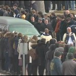 Thousands of students line the route to Holy Cross Community Cemetery, paying their final respects. http://t.co/FLReyaxZET