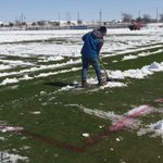 Its a big job but it has to be done. Coach of @FCDallas planning to hold practice here this pm. @CBSDFW #CBS11WX http://t.co/lF05NLYzw9
