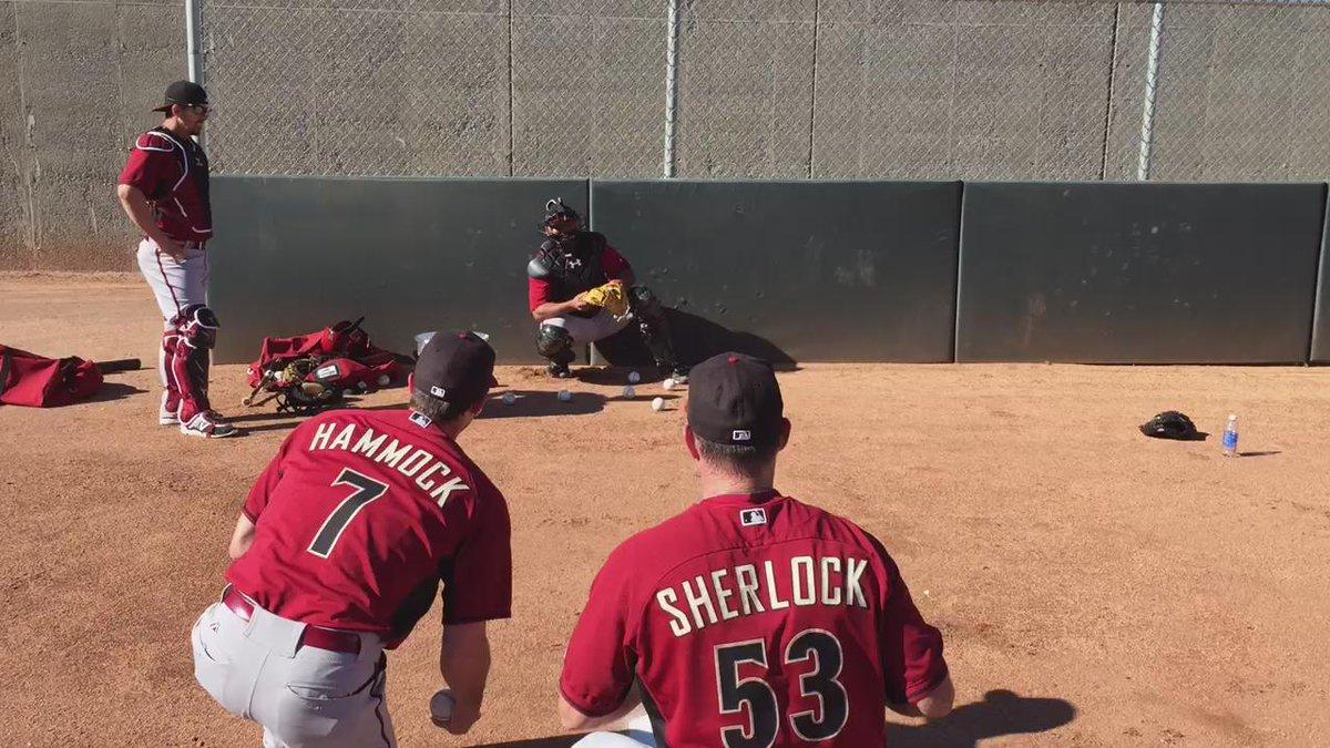 Using ninja focus to slow baseballs down. #DbacksSpring http://t.co/KoQCKUql6Y