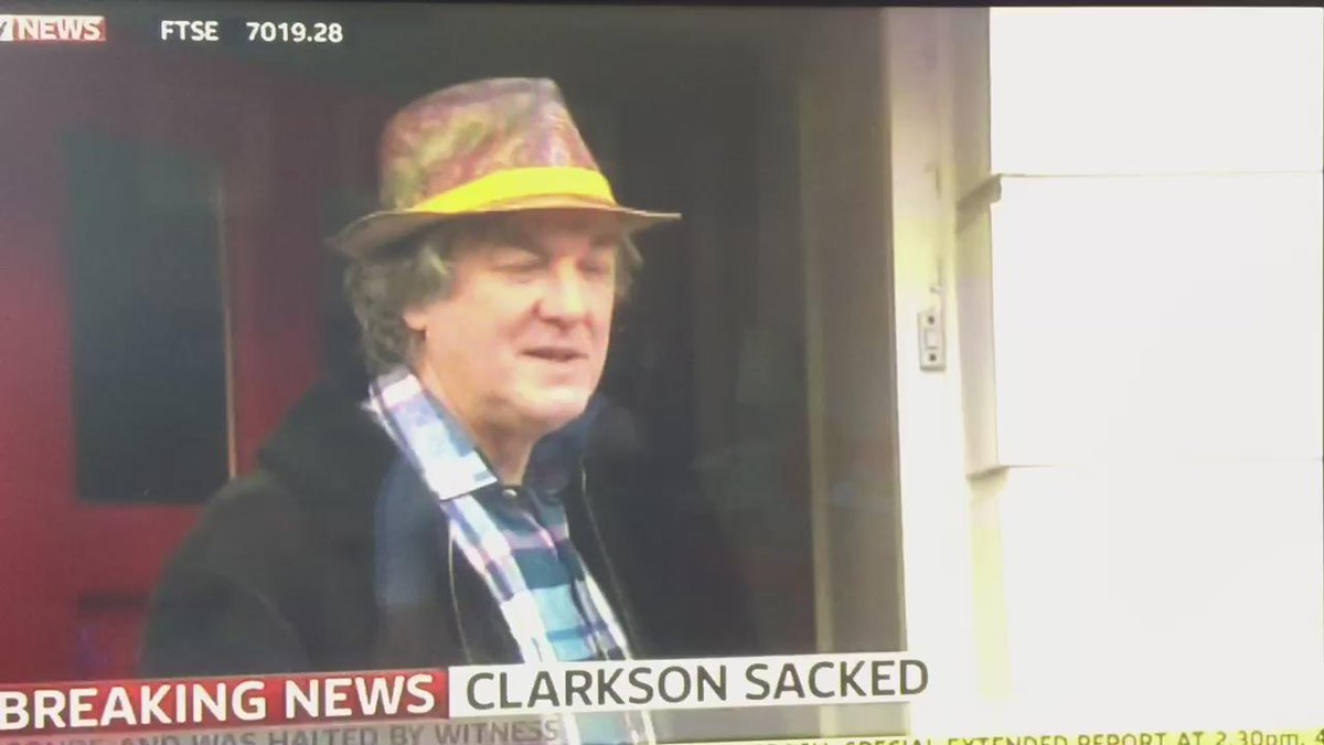 Priceless reaction from @MrJamesMay on hearing about the sacking of @JeremyClarkson @BBC_TopGear #clarkson #topgear http://t.co/w9OSTrkEqF