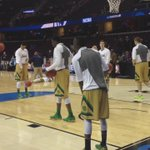 Less than an hour until tipoff between @NDmbb and Wichita State in the Sweet 16. http://t.co/9AAkIQ06o3