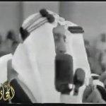 """الملك فيصل رحمه الله وبجانبه الملك سلمان (اذا دق جرس الحرب فستروني انا واخوتي أمامكم #القمة_العربية  #عاصفة_الحزم http://t.co/POkiz2E8eg"""""""