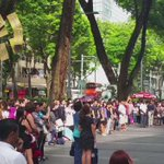 At Orchard Road: Singaporeans observe a minute of silence #LKY http://t.co/s7b8Ir4wZ6 http://t.co/Sqxnh5erZJ