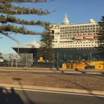 Propeller props strand #Cunards #QM2 at Outer Harbour #Adelaide overnight #FIVEaaNews http://t.co/uKQq1SwcBM