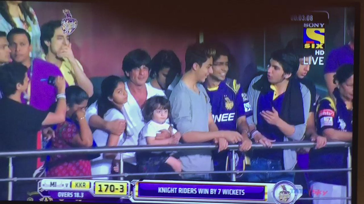 Well done @iamsrk & @KKRiders http://t.co/EdTwoffpXl