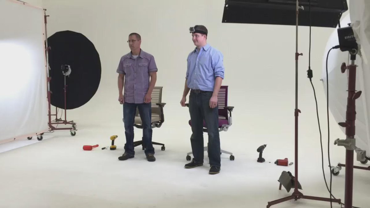 In honor of #EarthDay, our engineers raced to disassemble the #ThinkChair the fastest. RT to enter to win one! http://t.co/Fozqn9QbHL