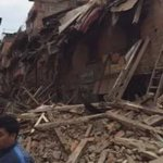 My sister is in Bhaktapur this morning, city has collapsed, in rubble. #NepalQuake http://t.co/hbtnxlk8ZO