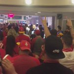 Red Nation taking over the concourse. CC: @dmorey http://t.co/obeQowAj9H