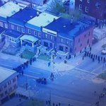 Large police presence in the Mondawmin area of Balt. Disturbance erupts after #FreddieGray funeral. @nbcwashington http://t.co/WKmlKrJMAa