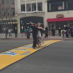 Survivor Adrienne Haslet-Davis dancing on the #BostonMarathon finish line http://t.co/pFvH92TDk4