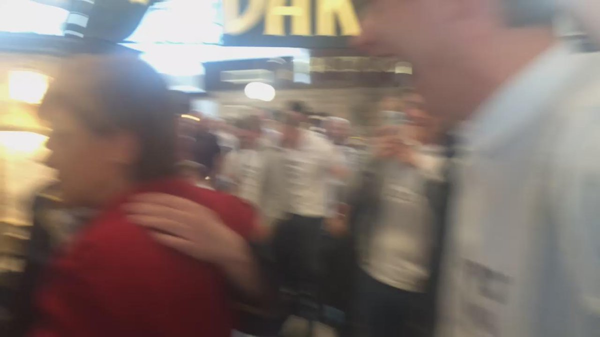 This was @NicolaSturgeon being congratulated by a stag do in @EDI_Airport http://t.co/dJ9ebUp3t6