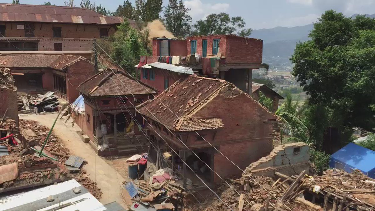 About to map Changu Narayan Temple with @skycatch when a 7.3 earthquake hit.  Everyone is ok. #NepalQuake http://t.co/jpWY69znTO