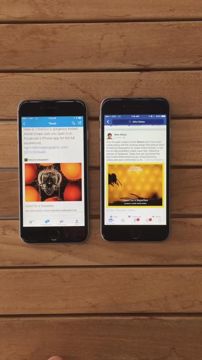 Twitter Web Link vs Facebook Instant Articles http://t.co/6LA0v0Oe6K