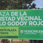 """Ya son más de 300 los espacios verdes recuperados. Hoy sumamos uno más y le pusimos el nombre de """"Polo Godoy"""". RM http://t.co/abUzQGBvRI"""