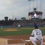 Tonights ceremonial first pitch by David Gonzalez, @AdrianTitan23s father. http://t.co/W1GK1Ck6He