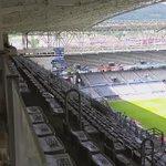 Ya estamos en el escenario del partido Real Oviedo - Cádiz CF. Aun silencioso. Se llenará. http://t.co/15vC1YBPfE