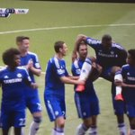 Chelsea players carry Didier Drogba off in his final appearance for the club.   http://t.co/hPqVSzHPHw