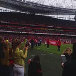 Thanks to all #Arsenal fans for their support this season. Next up Wembley! http://t.co/rR0irfR0at