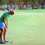 Hayley Davis 2-up with 2 to go after this putt for birdie. #SicEm #NCAAGolf http://t.co/FblP1GLcqn