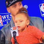 """WAAAAY UP I FEEL BLESSED"" — Riley Curry. LOL! http://t.co/xkZmEQn8Gm"