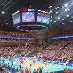 No i jest!! Pierwsza wygrana w Lidze Światowej! ! #FIVBWorldLeague #POLRUS http://t.co/c9AA9a8xNX