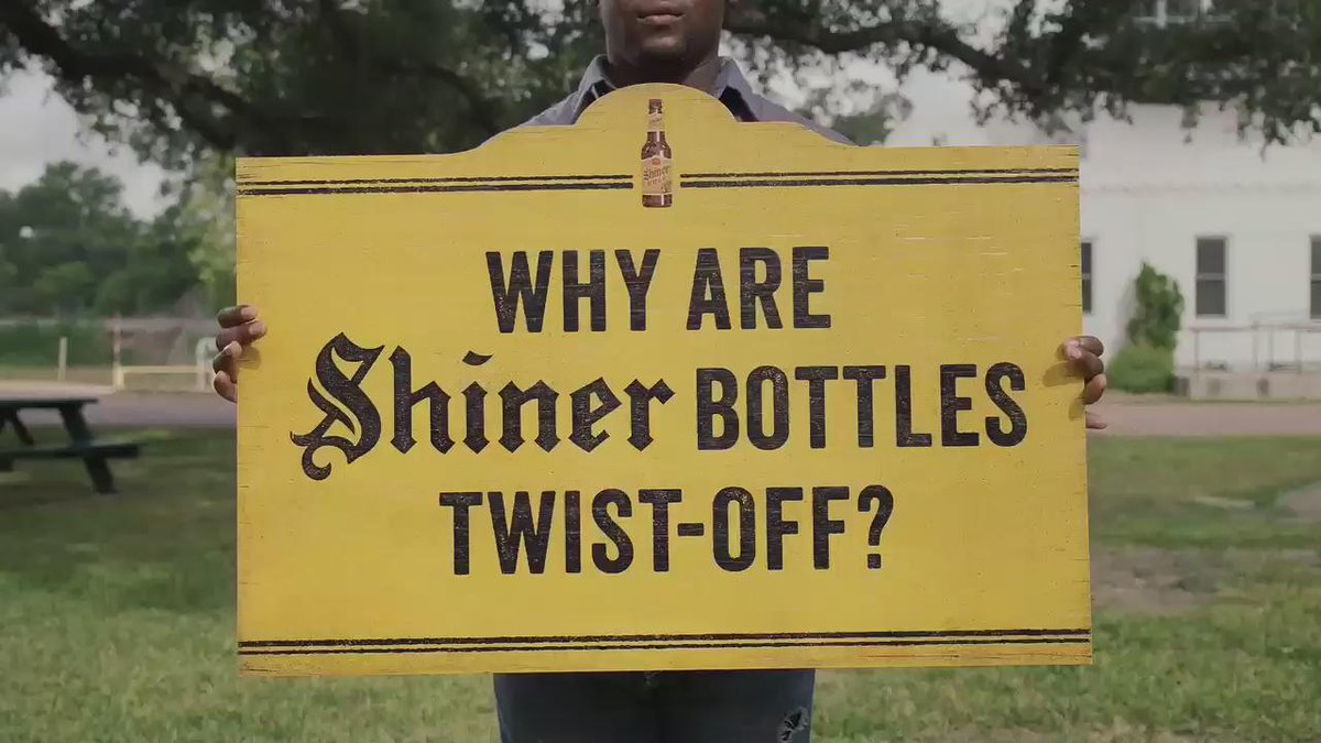 "Brewmaster Jimmy answers that question you probably had about Shiner: ""Why are Shiner bottles twist-off?"" http://t.co/UtWfLADpeh"