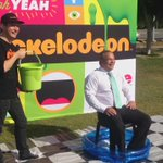 .@MayorTomTate getting slimed ahead of Councils Monster Machinery Day on Sunday. @9NewsGoldCoast http://t.co/tXuTMUbdw4