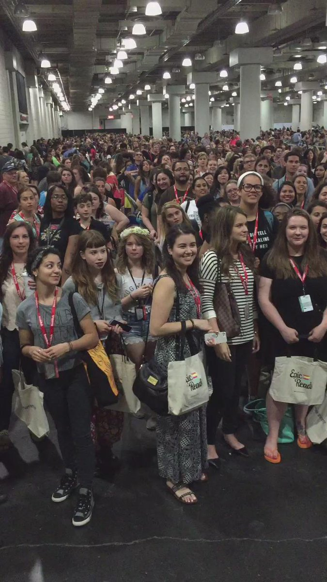 .@bjnovak .@mindykaling Your readers have been in line since 4:00 AM and have a message for you! #BookCon2015 http://t.co/CjmSKYV1nb