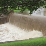 Rushing waterfall along Turtle Creek in @Dallas. @NBCDFW @NBCDFWWeather #txwx http://t.co/pBs51n1NIA