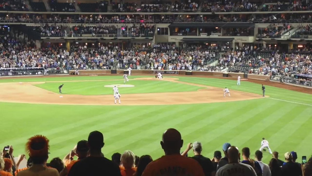 Speechless. I just witnessed a #SFGiants no hitter in person! The magic of the @Finnertys game bus! http://t.co/P0GhGzED0R