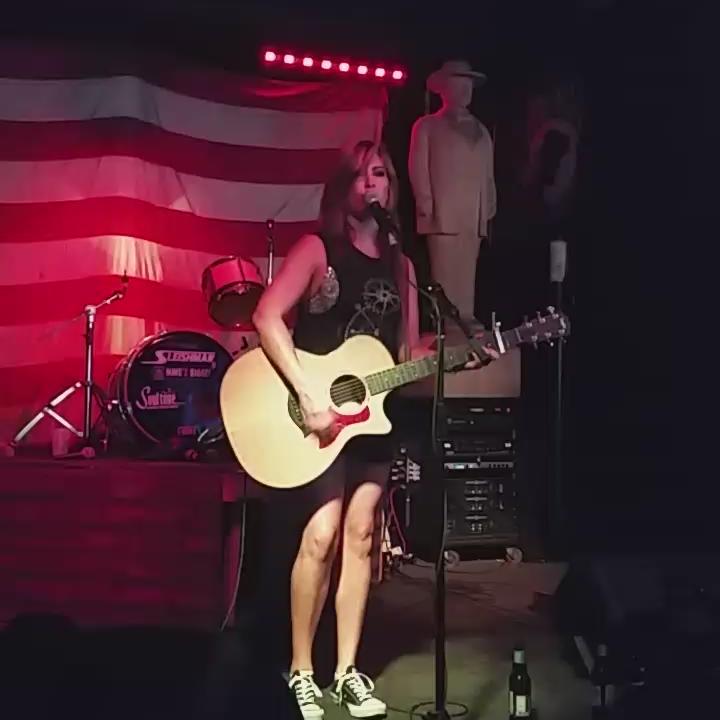 "@JessMeuse singing her awesome single ""Done"""