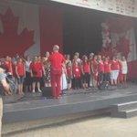 World Village Gospel Choir singing #OhCanada #CanadaDay #winnipeg http://t.co/QVX2miVEDM