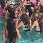 Then @ddlovato took time to take pics w #Lovatics IN THE POOL! #seriously #Z100CoolForTheSummer 🏊 http://t.co/Gal2UdXkNu