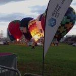 Beautiful hot air balloon light show beside Titanic Belfast. #TallShips2015 http://t.co/YxAneJNW1N