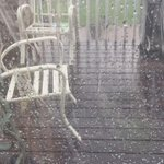 Heavy downpour of rain with little hail pebbles in #Centennial #cowx http://t.co/xmrMUYe1gz